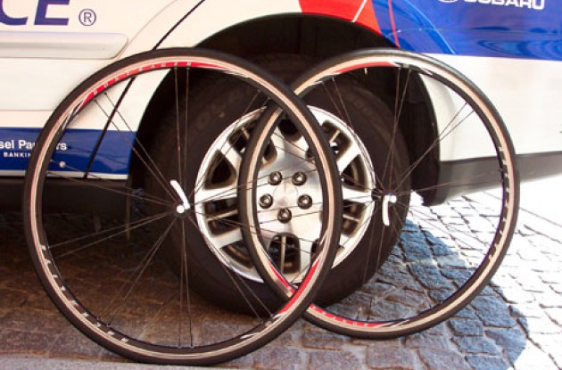 Nope...these wheels won't fit! Photo copyright Roadcycling.com.