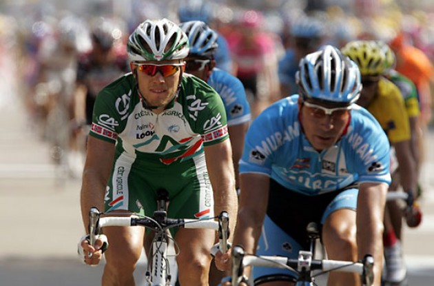 "Hushovd and Zabel lost today. Photo copyright Ben Ross/Roadcycling.com/<A HREF=""http://www.benrossphotography.com"" TARGET=_BLANK>www.benrossphotography.com</A>."