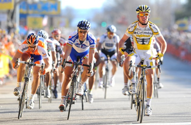 Mark Cavendish (Team Columbia-Highroad) wins stage 5 of the 2009 Tour of California. Photo copyright TDWSports.com.