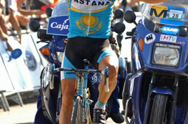 Vinokourov wins again! Photo copyright Roadcycling.com.