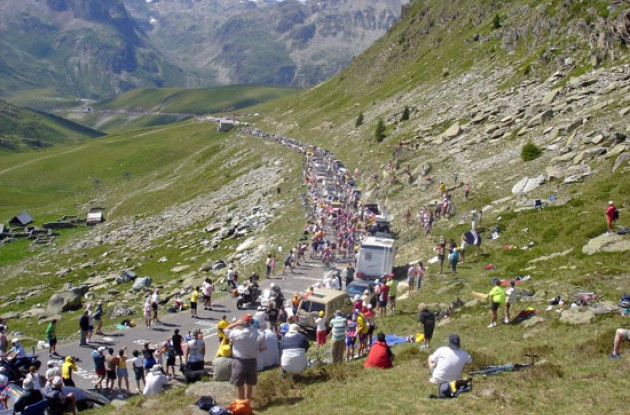 This is the day that both Jimmy Casper and Floyd Landis suffered in the Alps. Photo by Thomson Bike Tours.