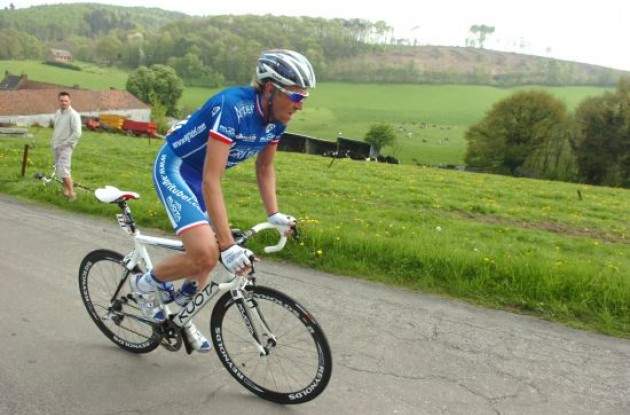 Christophe Moreau in his long breakaway.