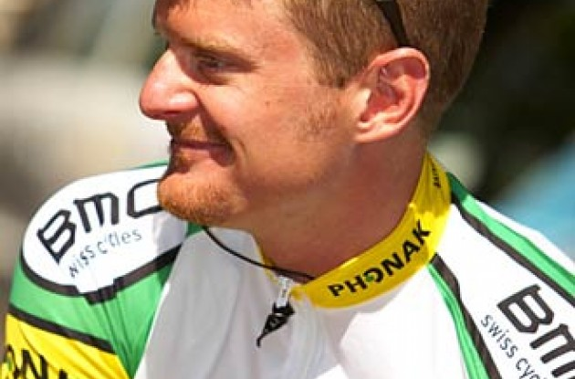 Floyd Landis hopes his teammates will pull him along in the mountains. Photo copyright Ben Ross/Roadcycling.com/www.benrossphotography.com.