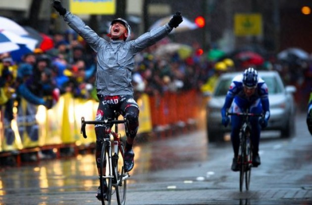 Francisco Mancebo (Rock Racing) wins stage 1 of the 2009 Tour of California. Photo by Vero Image.
