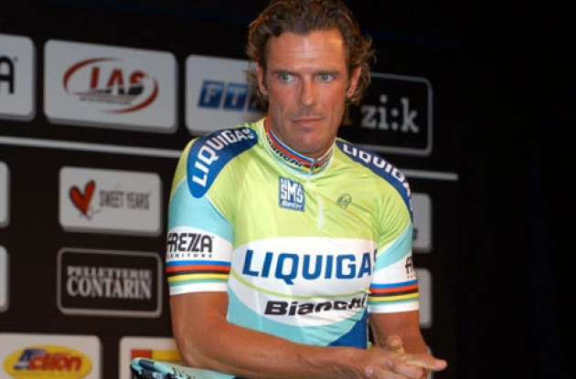 Will Cipollini's return to the pro scene be a success? Stay tuned to Roadcycling.com to find out. Photo copyright Fotoreporter Sirotti.