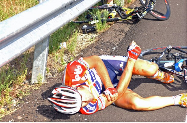 Crash! Photo copyright Roadcycling.com.