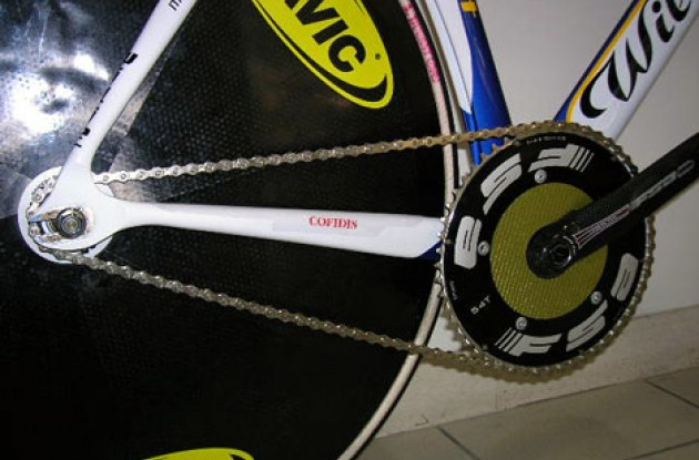 It's 54x13 for O'Grady today. Less choice = less weight. Photo copyright Roadcycling.com.