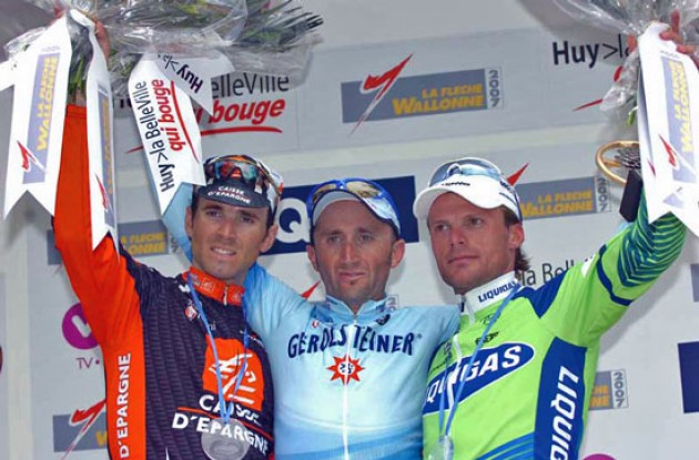 Rebellin, Valverde and Di Luca on the podium.