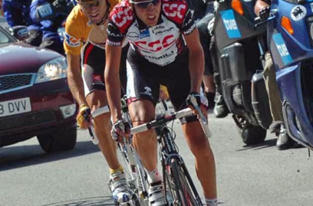 Carlos Sastre and Alejandro Valverde.
