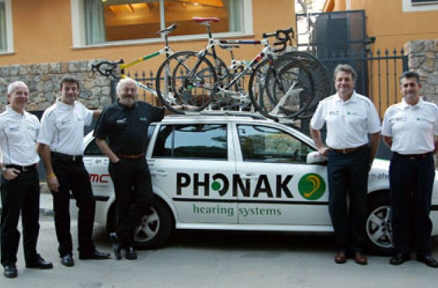 Phonak's team management has undergone major changes during the winter break. Photo copyright Murphy Heiniger.