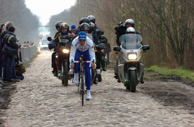 Tom Boonen (Quick Step). Photo copyright Fotoreporter Sirotti.