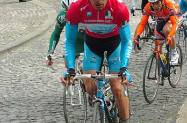 Erik Zabel (Milram) climbs. Photo copyright Fotoreporter Sirotti.