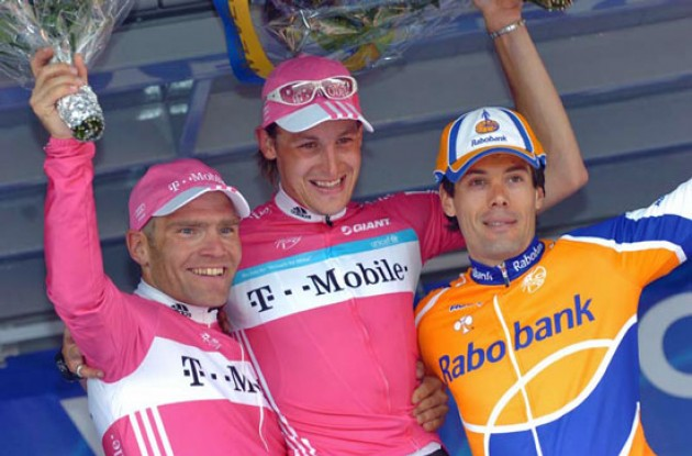 Burghardt, Hammond and Freire on the podium in Wevelgem.