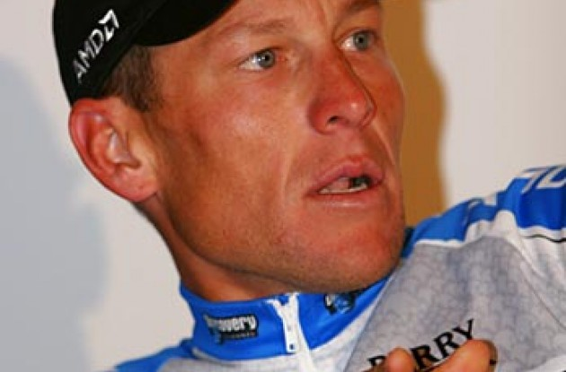 "Lance Armstrong: ""I'm more motivated than ever."" Photo copyright Ben Ross/Roadcycling.com/www.benrossphotography.com."