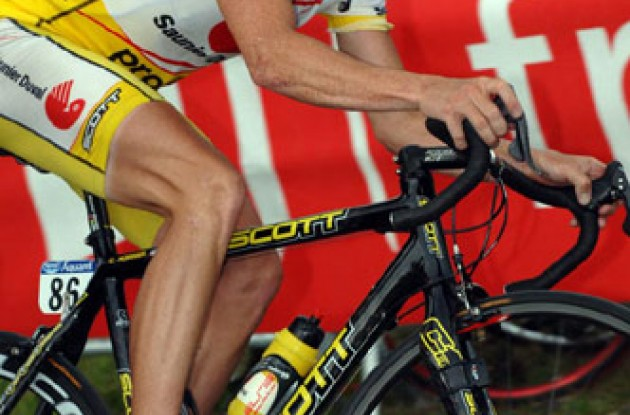 Chris Horner suffered today. Photo copyright Roadcycling.com.