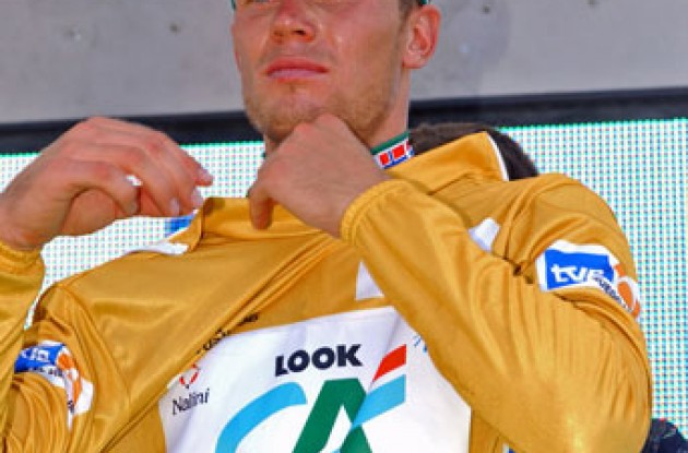 Thor Hushovd took the overall lead today. Photo copyright Roadcycling.com.