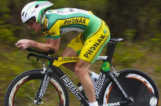 Floyd Landis (Phonak) won the stage... Photo copyright Casey Gibson.
