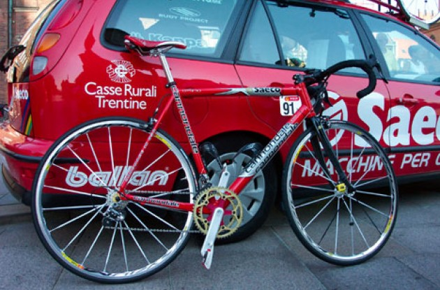 It will take more than a good cup of joe to ride Dario Pieri's bike to victory. Photo copyright Roadcycling.com.