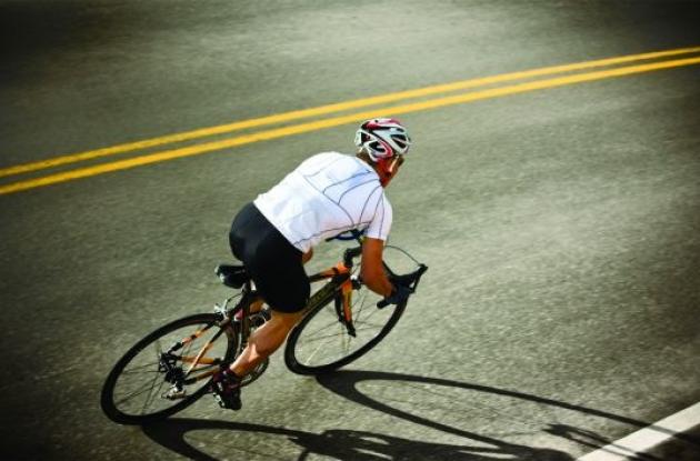 CamelBak VeloBak hydrated cycling jersey.