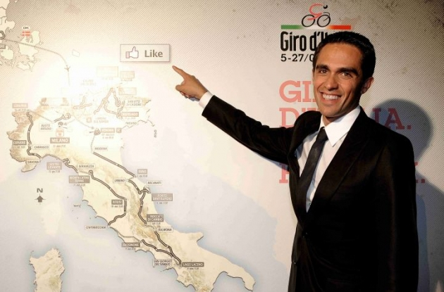 Alberto Contador has signed a new contract with Team Saxo Bank. Photo Fotoreporter Sirotti.