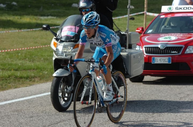Domenico Pozzovivo of Team Colnago on his way to Giro d'Italia stage victory. Photo Fotoreporter Sirotti.