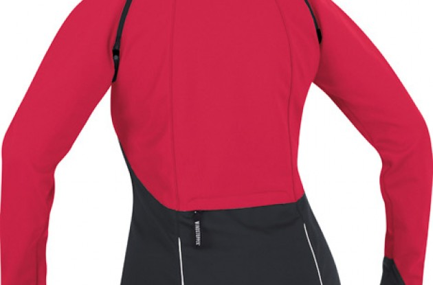 Rear view of the Gore Bike Wear Phantom III Lady Jacket.