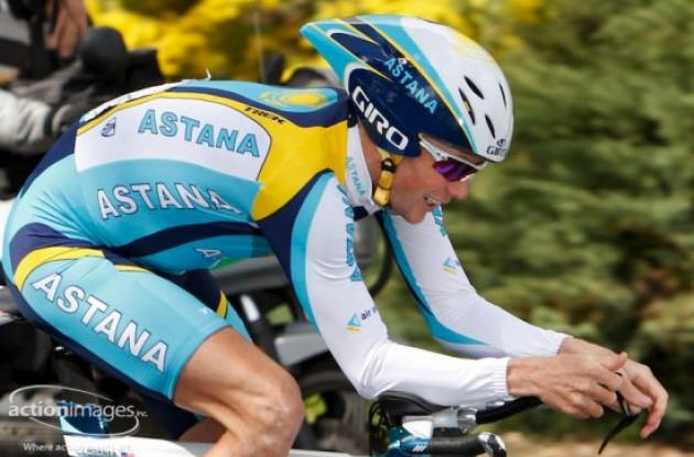 Chris Horner (Team Astana). Photo copyright Ben Ross / Action Images Inc.