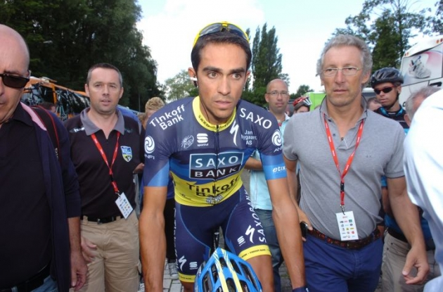 Alberto Contador AKA El Pistolero is back and do we care? Photo Fotoreporter Sirotti.
