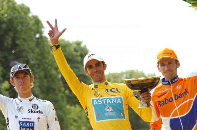 Alberto Contador has been found guilty. Photo Fotoreporter Sirotti.
