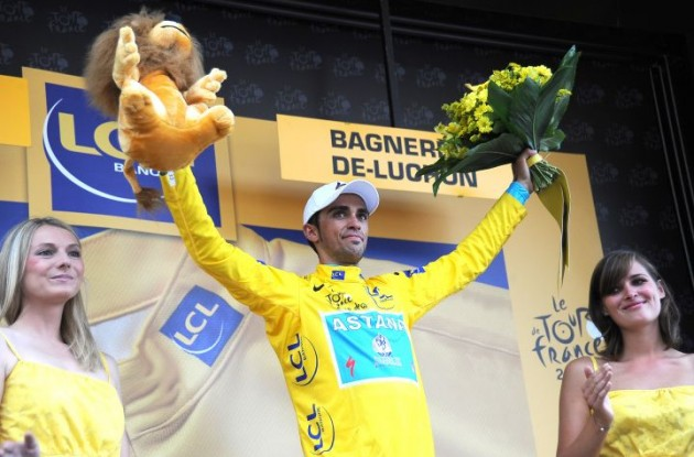 Alberto Contador (Team Saxo Bank - SunGard). Photo Fotoreporter Sirotti.