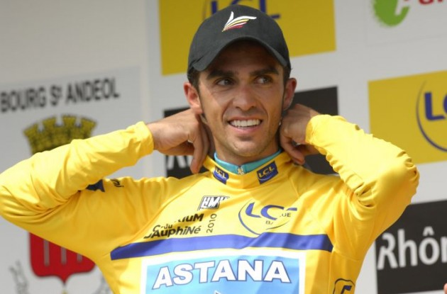 "Alberto Contador (Team Saxo Bank) is ""relieved and happy"" about the ruling, which raises questions to some. Photo Fotoreporter Sirotti."