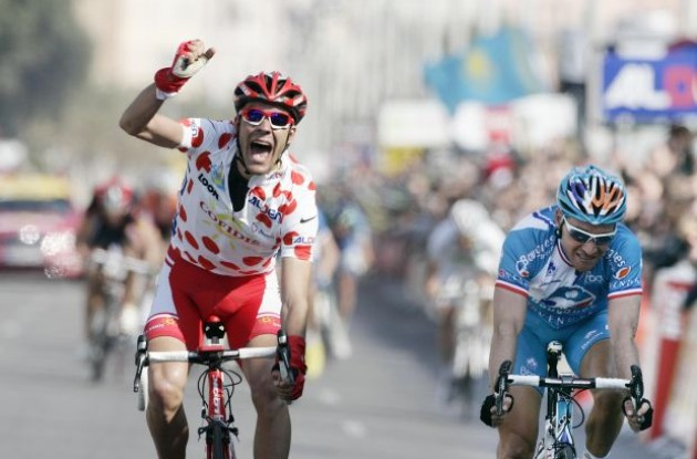 Amael Moinard wins stage 7 of the 2010 Paris-Nice. Photo copyright Fotoreporter Sirotti.