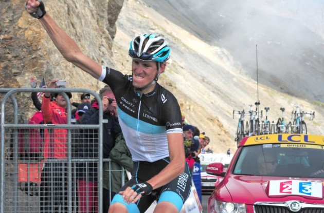 Andy Schleck powered away from Alberto Contador and co. and won stage 8 of the Tour de France 2010. Photo copyright Fotoreporter Sirotti.