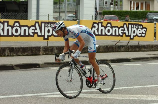 Arthur Vichot of Team FDJ-Big Mat on his way to a beautiful stage victory in the 2012 Criterium du Dauphine Libere. Photo Fotoreporter Sirotti.