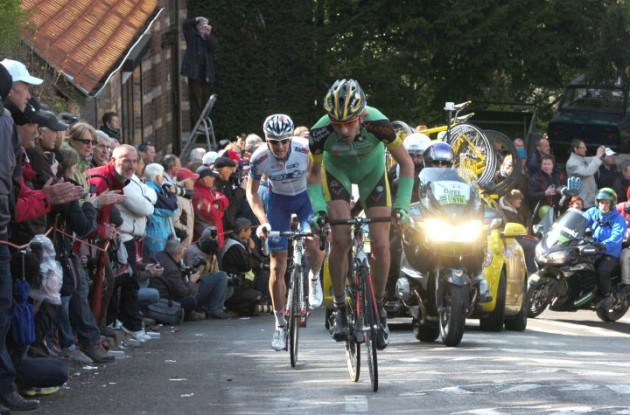 Bellemakers and Roux in today's breakaway. Photo Fotoreporter Sirotti.