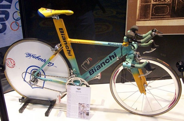 Marco Pantani's TT Bike. Photo copyright Roadcycling.com.