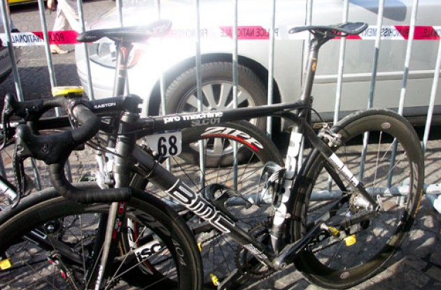 The new BMC Pro Machine bike after 21 Tour de France stages. Photo copyright Roadcycling.com.