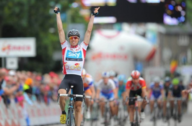 Edvald Boasson Hagen wins stage 6 in the 2011 Eneco Tour. Photo Fotoreporter Sirotti.