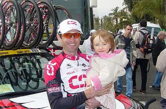 Bobby Julich with his daughter Olivia. Photo copyright Angela Julich.