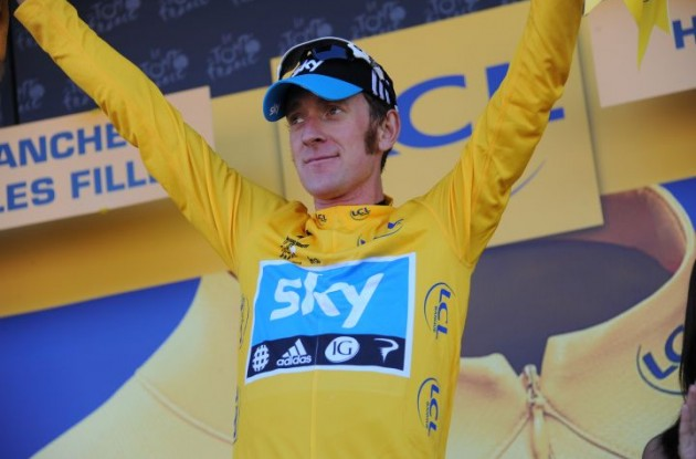 Great Britain's Bradley Wiggins (Team Sky Procycling). Photo Fotoreporter Sirotti.