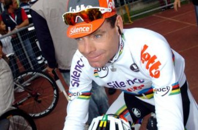 World Champion Cadel Evans has signed a new contract with BMC Racing Team. Photo copyright Fotoreporter Sirotti.