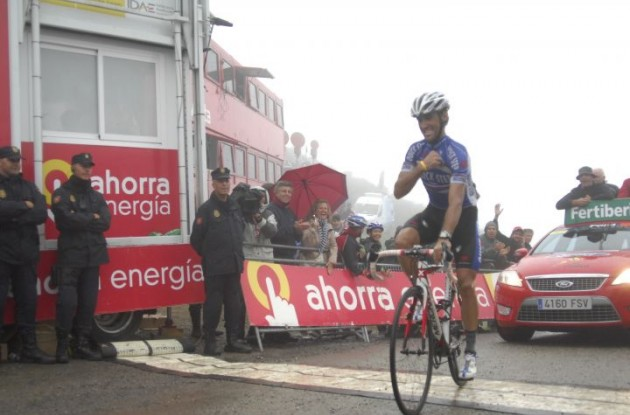 Carlos Barredo wins stage 15 of the Tour of Spain 2010! Photo copyright Fotoreporter Sirotti.