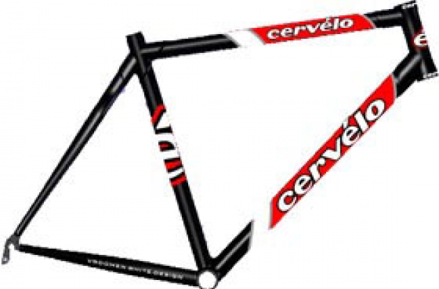 The 2003 Cervelo R2.5 carbon frame.