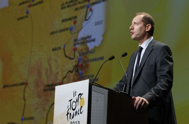 Christian Prudhomme presents the 2012 Tour de France route. Photo Fotoreporter Sirotti.