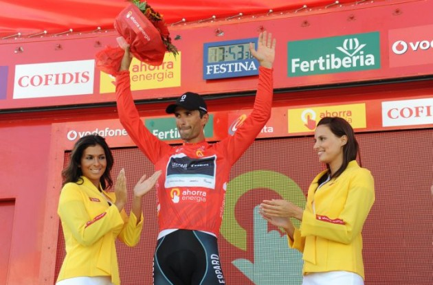 Daniele Bennati leads the Vuelta overall. Photo Fotoreporter Sirotti.