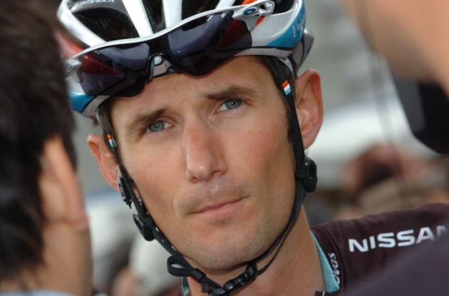 Frank Schleck of Team RadioShack-Nissan-Trek has tested non-negative for a doping substance. Photo Fotoreporter Sirotti.