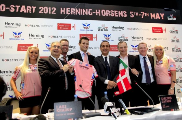 The 2012 Giro d'Italia will start in Jutland in the Western part of Denmark.