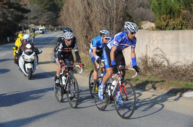 Volodimir Gustov (left) returns to Team Saxo Bank. Photo Fotoreporter Sirotti.