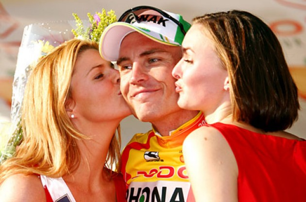 Will there be sweet podium kisses for Hunter in France this July? Stay tuned to Roadcycling.com to find out! Photo copyright Ben Ross/Roadcycling.com/www.benrossphotography.com.