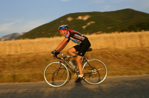 Paul Rogen thinks about his proposed 2005 Challenge against Merckx on Mount Ventoux on July 14 – the Bastille Day in France. Photo by Thomson Bike Tours.
